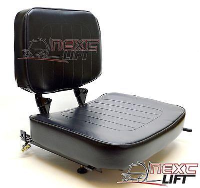 New Universal Folding Vinyl Forklift Seat Fits Nissan Cat Hyster Clark Toyota