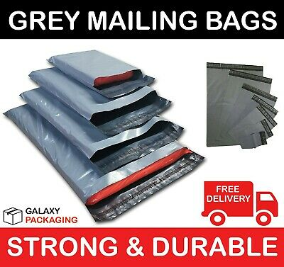 100 BAGS OF 13 x 19 INCH STRONG POLY MAILING POSTAGE POSTAL BAGS SELF SEAL 55mu