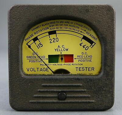 Triplett Model 337-avp Acdc Voltage Tester Yellow
