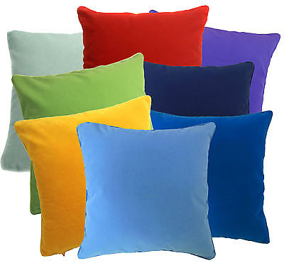 Plain Flat Cotton Blend  Velvet Style Cushion Cover/Pillow Case Custom Size