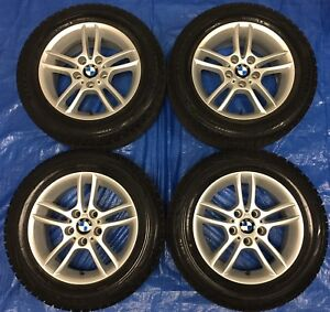 "2010 BMW 3 Series 16"" E90 Wheels & Winter Tires 95%"