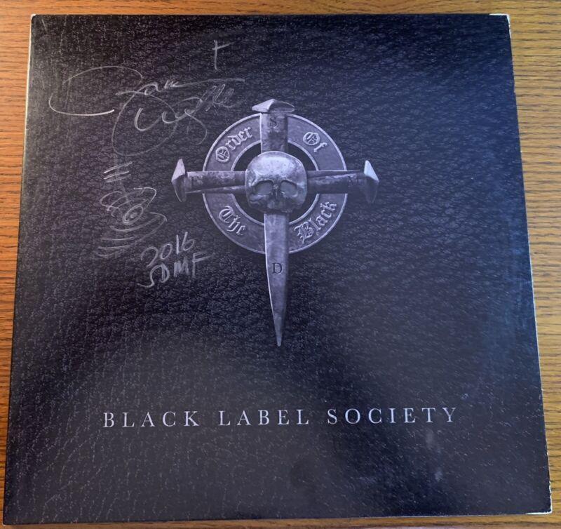 Black Label Society Zakk Wylde Signed Order Of The Black Vinyl LP