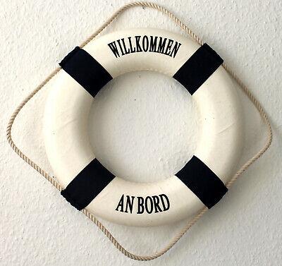 Rettungsring 35cm blau-weiss zur Dekoration Aufschrift Willkommen an Bord ()