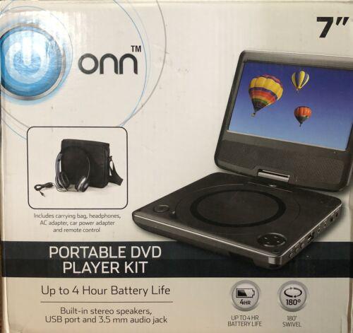 """Onn ONA17AV041 7"""" Portable DVD Player Bundle, Built-in Stere"""