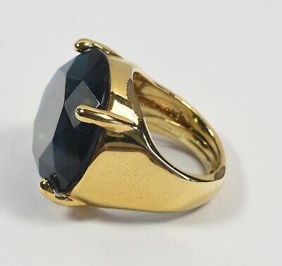 Lovely Kate Spade Designer Large Blue Rhinestone Ring ~ Very Pretty