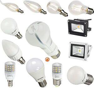 2 - 13 Watt LED Birne Kerze Lampe Fluter Leuchte E14 E27 G9  optional dimmbar
