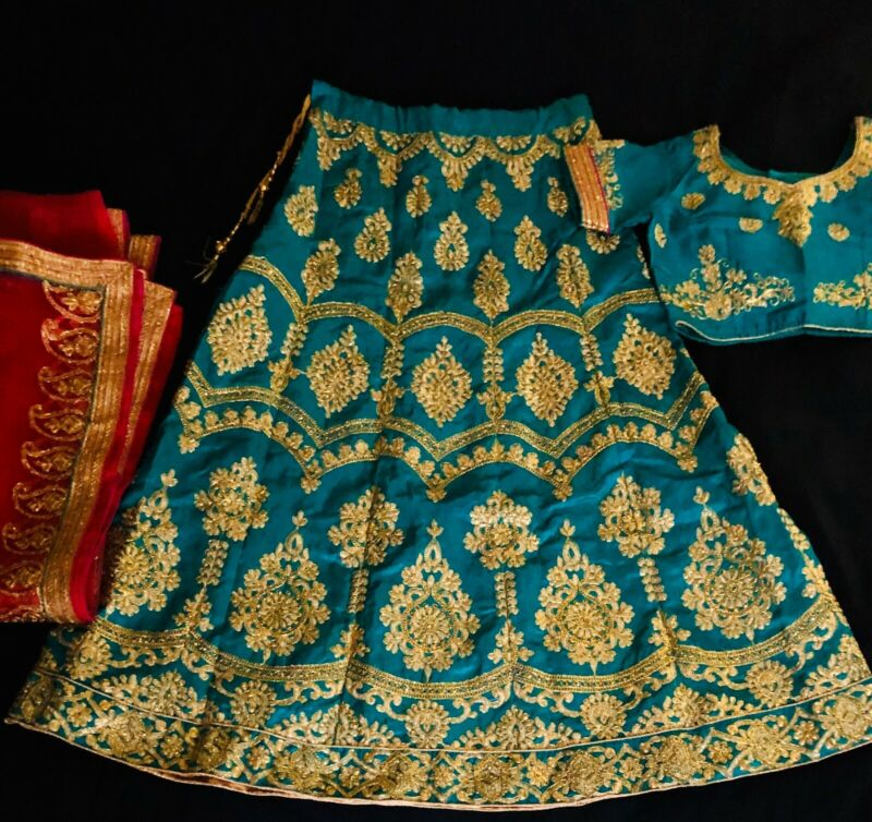 New Lehenga Choli Stitched /Ready Made For Wedding/party  Choli Size-34.