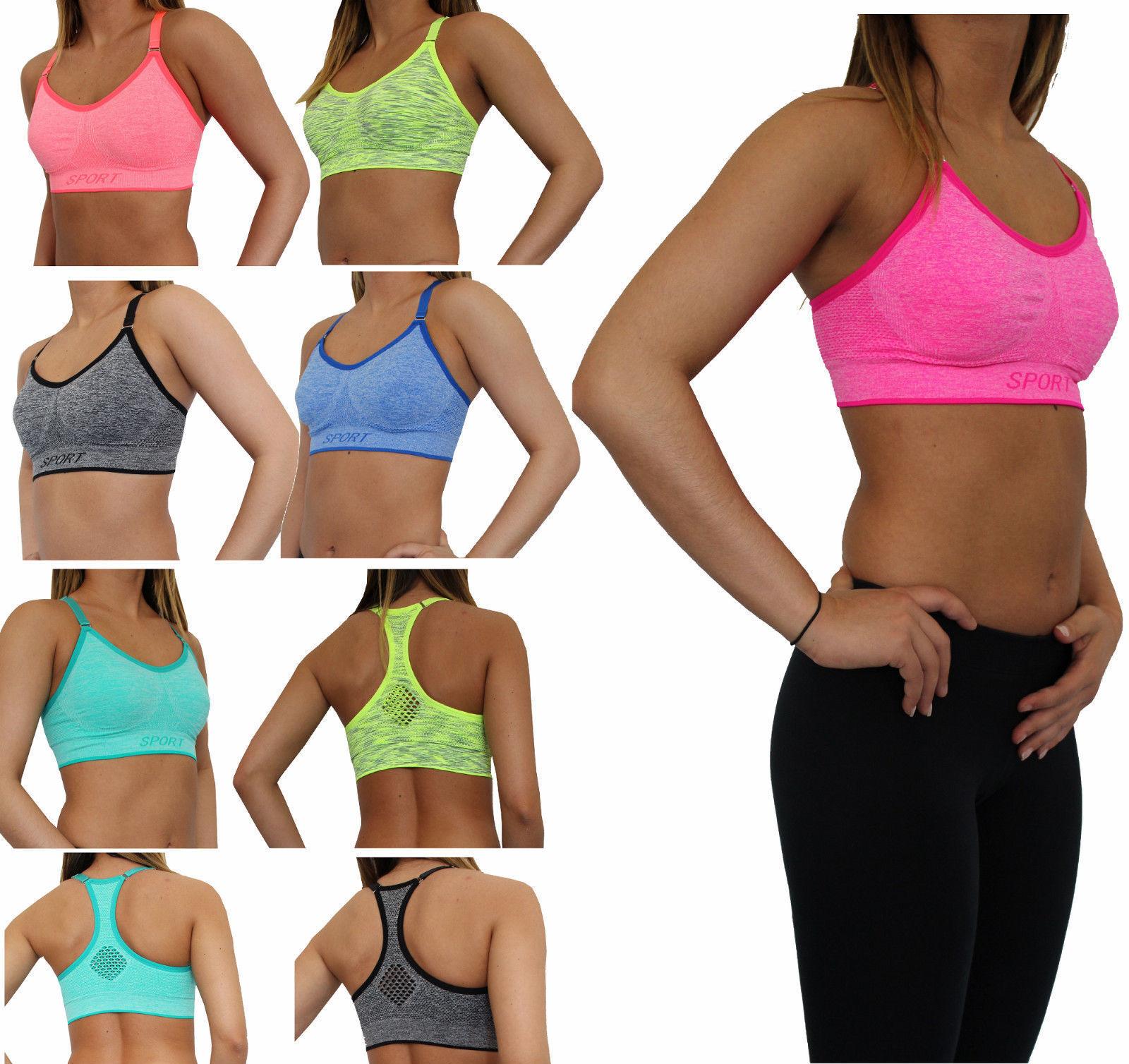Sport BH - BUSTIER -  Top Fitness Yoga BRA Bügellos ohne Bügel