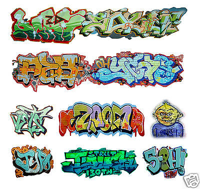 O Scale Custom Graffiti Decals #1 - Weather Your Box Cars, Gondolas & Hoppers!