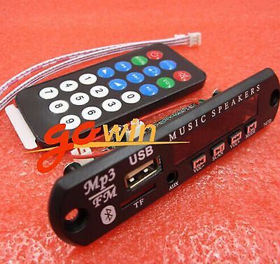 Wireless Bluetooth 12V MP3 WMA Decoder Board Audio Module USB TF Radio Car