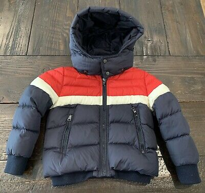 Moncler Boys Size 4 Down Coat jacket removable hood 100% Authentic Exc condition