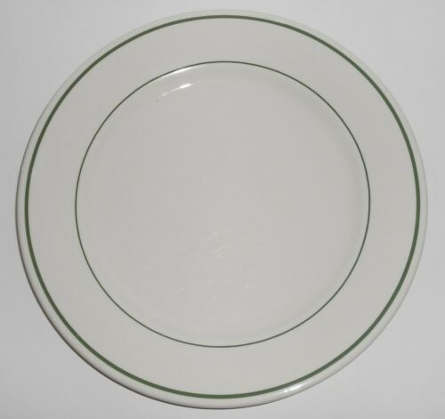 Buffalo Restaurant China Green Band Large Dinner Plate