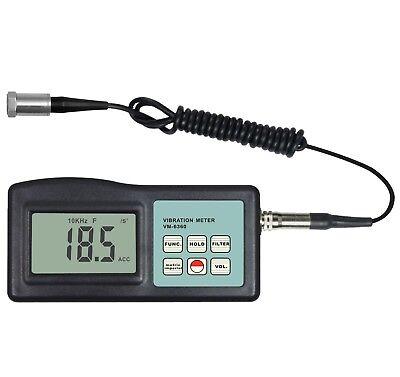 Digital Vibration Meter Tester Vibrometer Gauge 20khz 40cms