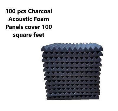 1 Inch Sq Tiles (100 sq ft Acoustic Foam Panel Wedge Studio Soundproofing Wall Tiles 12 X 12 X 1