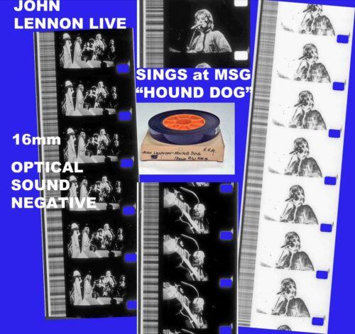JOHN LENNON -HOUND DOG Madison Sq Garden 16mm OPT SND Bl+Wh NEGATIVE MOVIE FILM