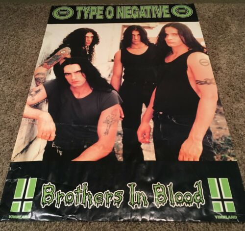 TYPE O NEGATIVE brothers in blood VINTAGE poster 1996