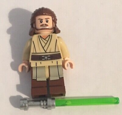 LEGO QUI-GON JINN + lightsaber minifigure STAR WARS set 75169 figure jedi