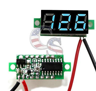 Mini Blue Dc 0-30v Led Display Digital Voltage Voltmeter Panel Car Motorcycle