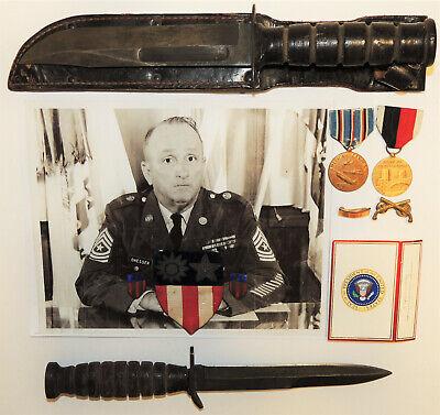 Kabar Camillus + M3 Aerial fighting knives WW2 medal grouping USA CBI patch!