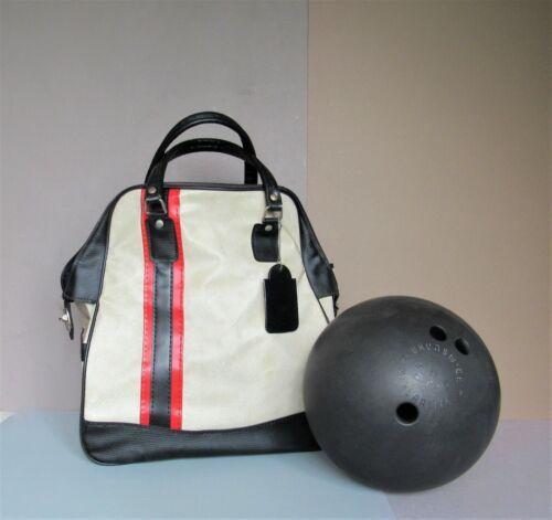 Vintage BRUNSWICK MINERALITE BOWLING BALL 16lb w/CARRY STORAGE BAG TOTE