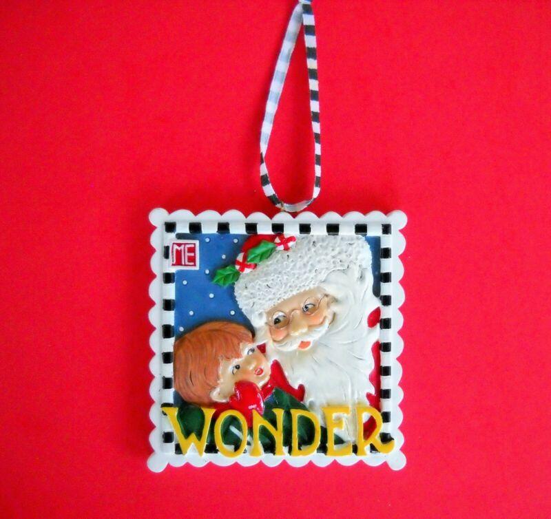 Mary Engelbreit Kurt Adler Christmas Ornament Santa & Child Wonder