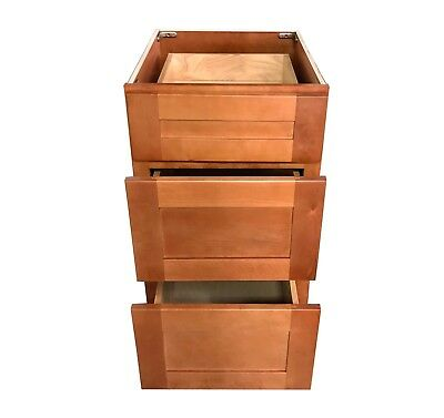 3 Drawers MAPLE SHAKER Bathroom Vanity Base Cabinet solid wood 12