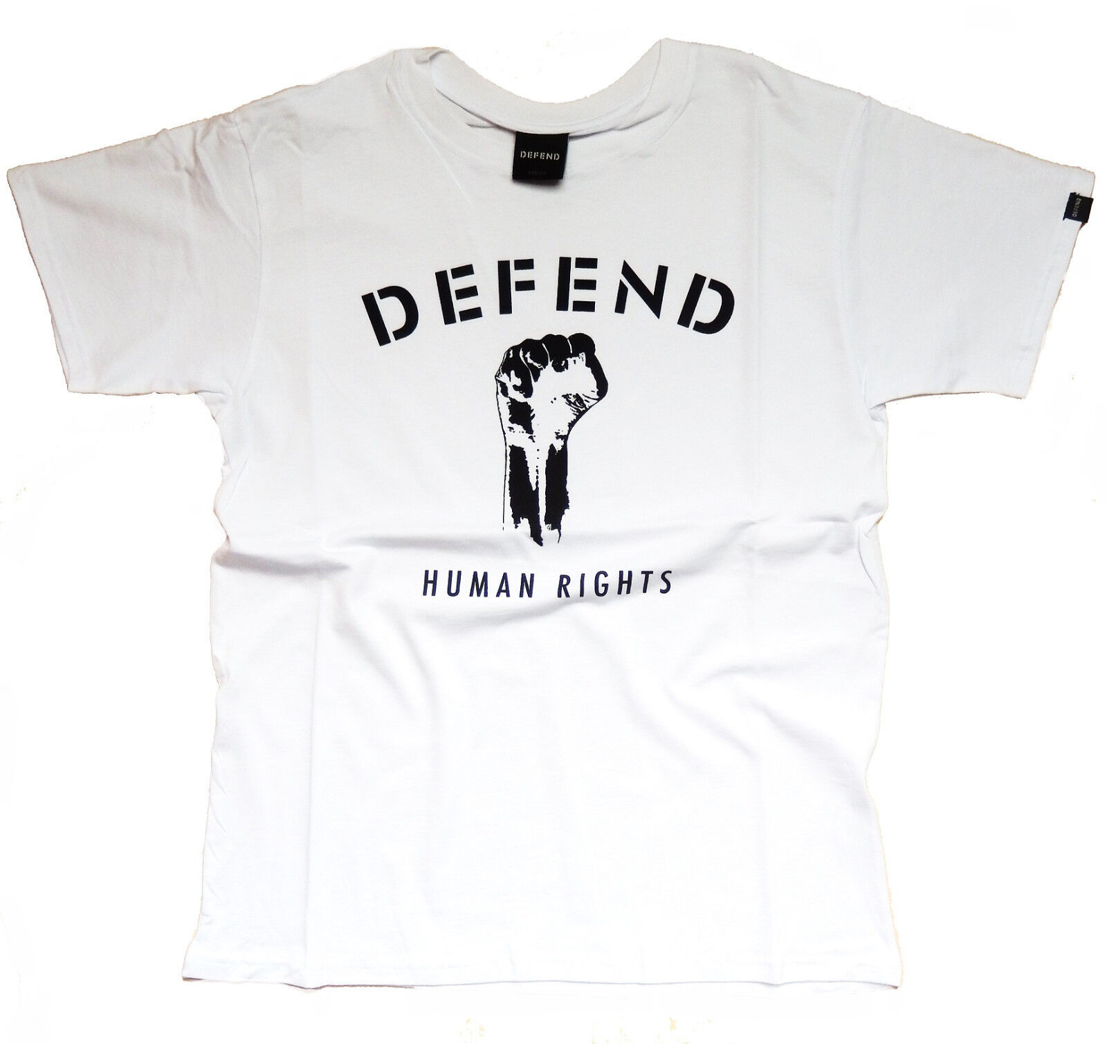 "Defend T-Shirt ""Human Rights"" White"