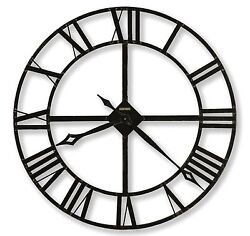 625-372 -THE LACY A 32 DIAMETER  IRON  HOWARD MILLER WALL CLOCK 625372