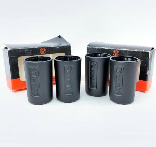 4 x Black Matte Jagermeister Shot Glasses Set