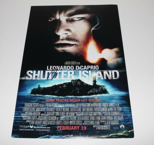 ACTOR LEONARDO DICAPRIO SIGNED 'SHUTTER ISLAND' 12x18 MOVIE POSTER w/COA LEO