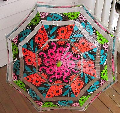 "Vera Bradley Lola Umbrella 13065-145 36"" Bubble Manual Open"