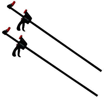"""2pc Quick Grip Ratchet Vice Bar Large Clamps 36"""" / 900mm Rapid Clamp Set"""