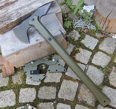 Cold Steel Trench Hawk OD Green Tactical Axe Axt Rettungsaxt Secure-Ex