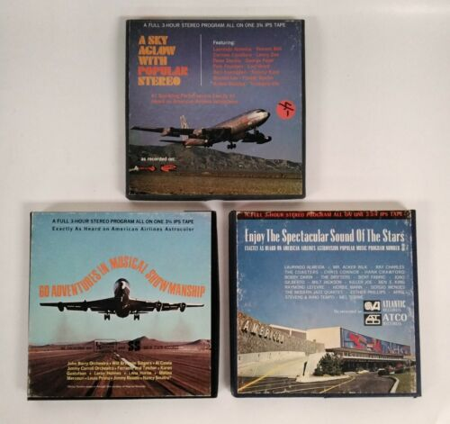 American Airlines - 3 lot - Astrostereo Reel To Reel Popular Programs 8, 33, 41