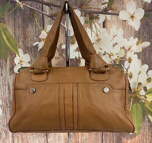 Tre Vero Soft Leather Satchel Shoulder Bag Handbag Purse 8.5x13