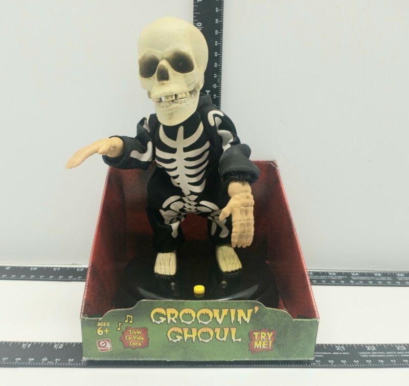 Rare 2005 Gemmy Groovin Ghoul Dancing Skeleton Grave Raver Livin La Vida Loca