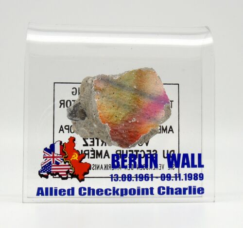 Authentic piece of the Berlin wall Checkpoint Charlie Made in Berlin Germany 4x4