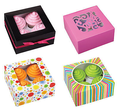 Wilton 4 Cavity Cupcake Boxes, 3 Count, 12 Styles