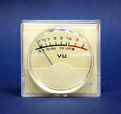 2pc Panel Vu Meter Sd-310rn Ivory 48x45mm -205db Dcr650 No Lamp Sd Flashstar