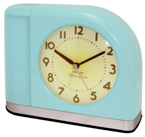 Westclox Big Ben Moon Beam Aqua Blue Alarm Clock
