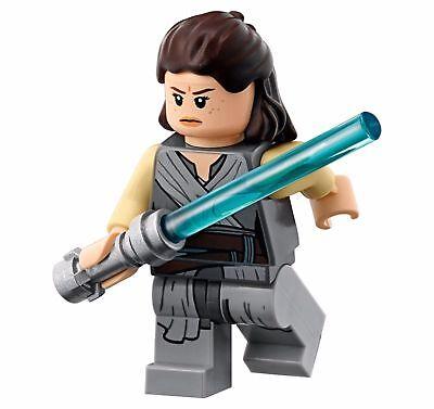 LEGO STAR WARS MINIFIGURE MINIFIG REY WITH LIGHTSBAER 75189 LAST JEDI