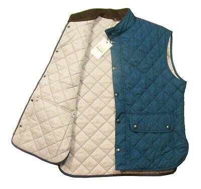Barbour Men's Petrol Blue Lowerdale Quilted Gilet Full Zip Vest