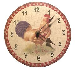"""Rooster Chicken 7"""" Wall Clock Antique Vintage Style ShabbyChic Country Farmhouse"""