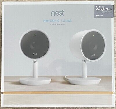 Nest Cam IQ Indoor Full HD Wi-Fi Home Security Camera (2-Pack)- White NC3200US