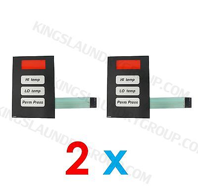 2 Pcs Phase 5 Coin Keyboard Keypad For American Dryer Adc Stack Dryer 112526