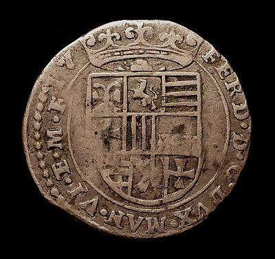 Italien, Hzm. Mantua, Ferdinand Gonzaga, 7 Soldi 1614, RR!
