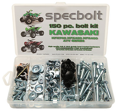 150pc KAWASAKI ATV Bolt Kit KFX450 KFX 450 400 700 body fenders motor wheel nuts