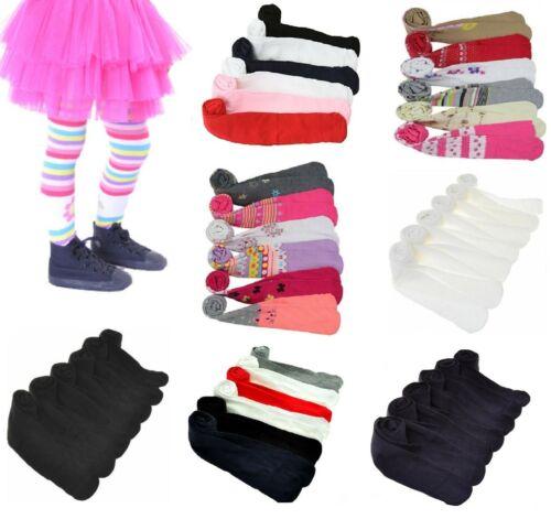 NEW Girls Kids Plain Print Warm Thick Winter Tights Multi-Colors Lot XS S M L XL