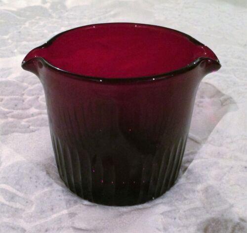 Vintage Red Glass Polished Pontil Wine Rinser