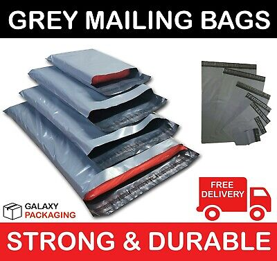 50 BAGS OF 17 x 24 INCH STRONG POLY MAILING POSTAGE POSTAL BAGS SELF SEAL 55mu
